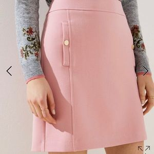 Loft pink skirt with gold buttons